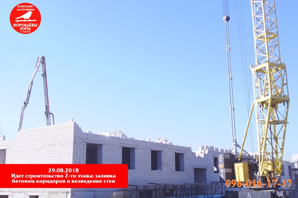 Новая информация со строительной площадки жилого квартала «Воробьевы горы на полях