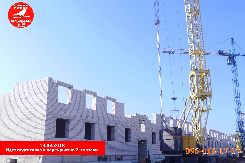 Ход строительства в новом жилом комплексе «Воробьевы горы на полях»