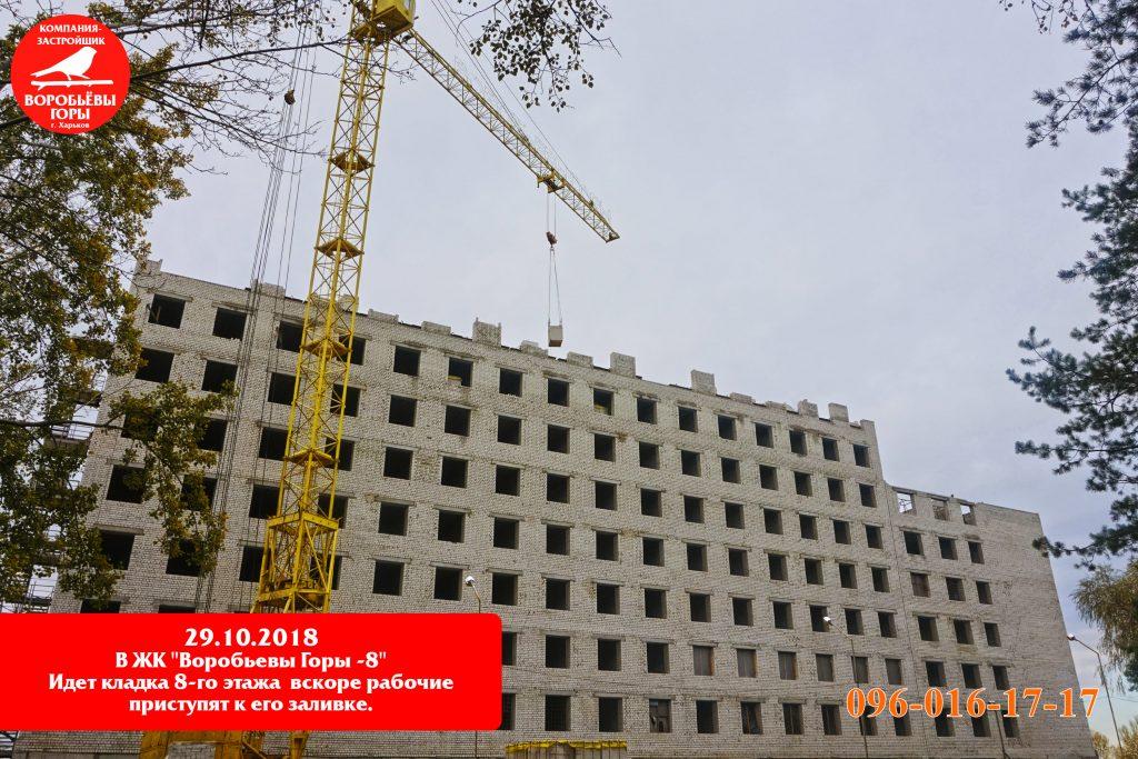 Как идет строительство восьмого жилого комплекса «Воробьевы горы-8»?