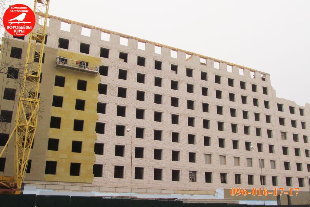 фасад ЖК Воробьевы горы 8