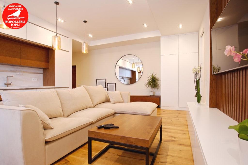 Лаконичный дизайн гостинки