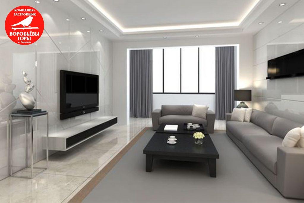 Грамотно спланированное пространство в гостинке с помощью дизайна