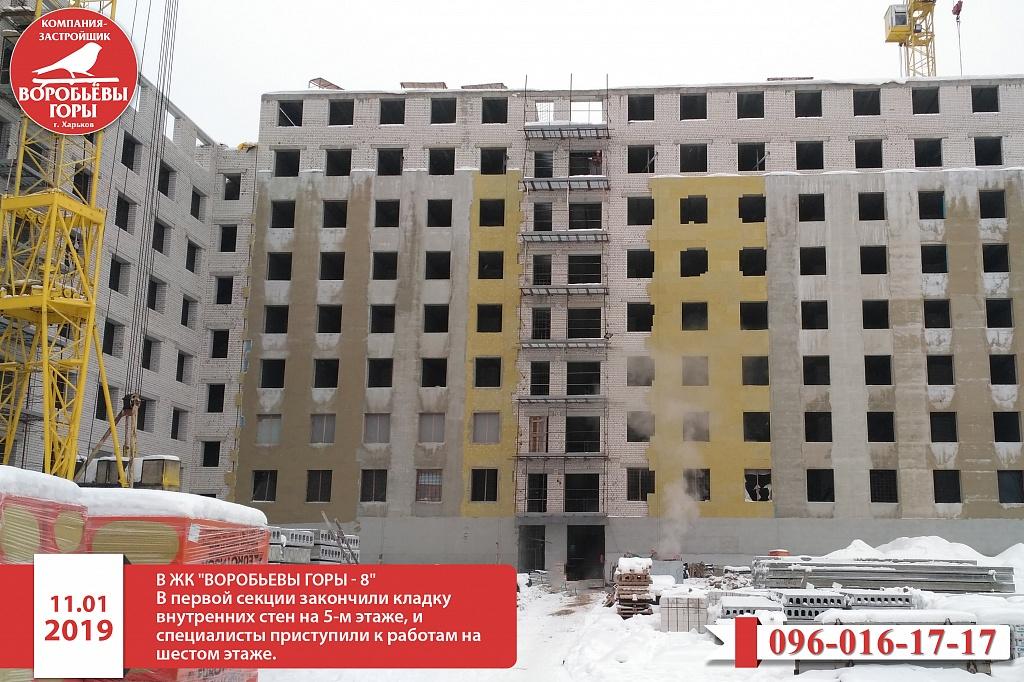 Этап строительства восьмого комплекса в ЖК «Воробьевы горы»
