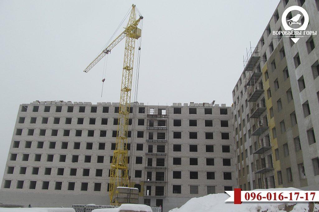 На какой стадии сейчас строительство восьмого комплекса «Воробьевы горы»?
