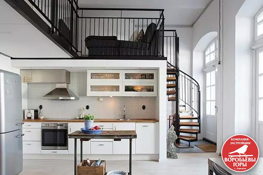 Секреты обустройства мебели в двухуровневой квартире