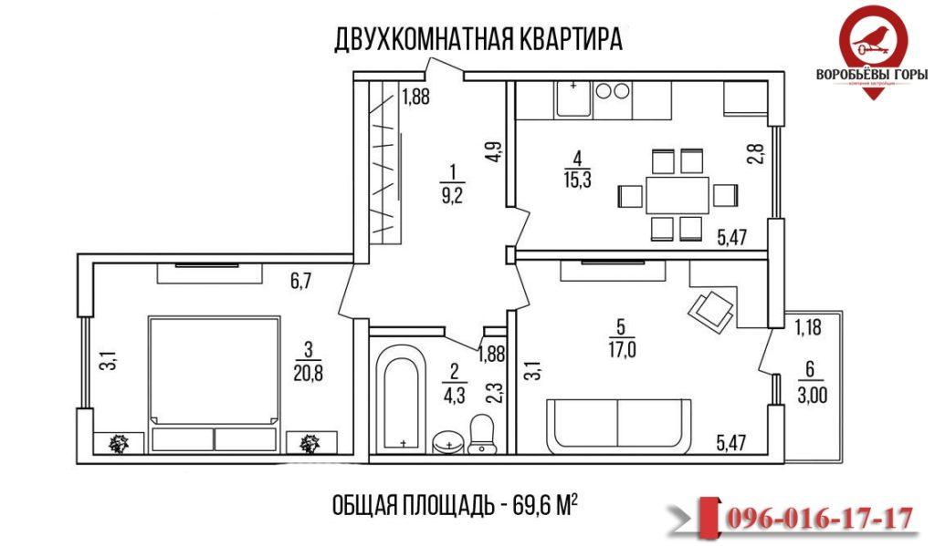 Что лучше выбрать – однокомнатную или двухкомнатную квартиру от застройщиков «Воробьевы Горы на Полях»