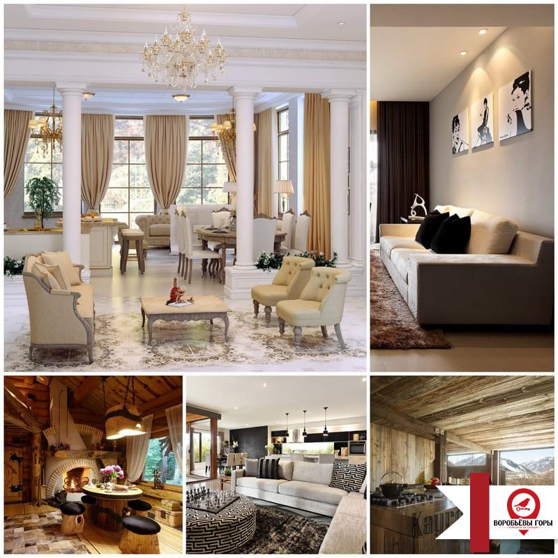 Дизайн трехкомнатной квартиры в одном стиле