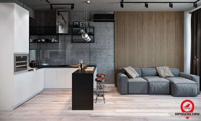 Темпераментный материал - красота и практичность отделки бетоном