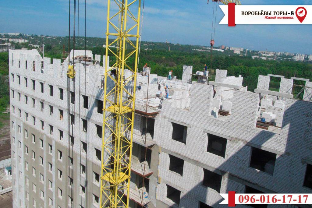 Как продвигается строительство восьмого дома в жилом квартале «Воробьевы Горы»?