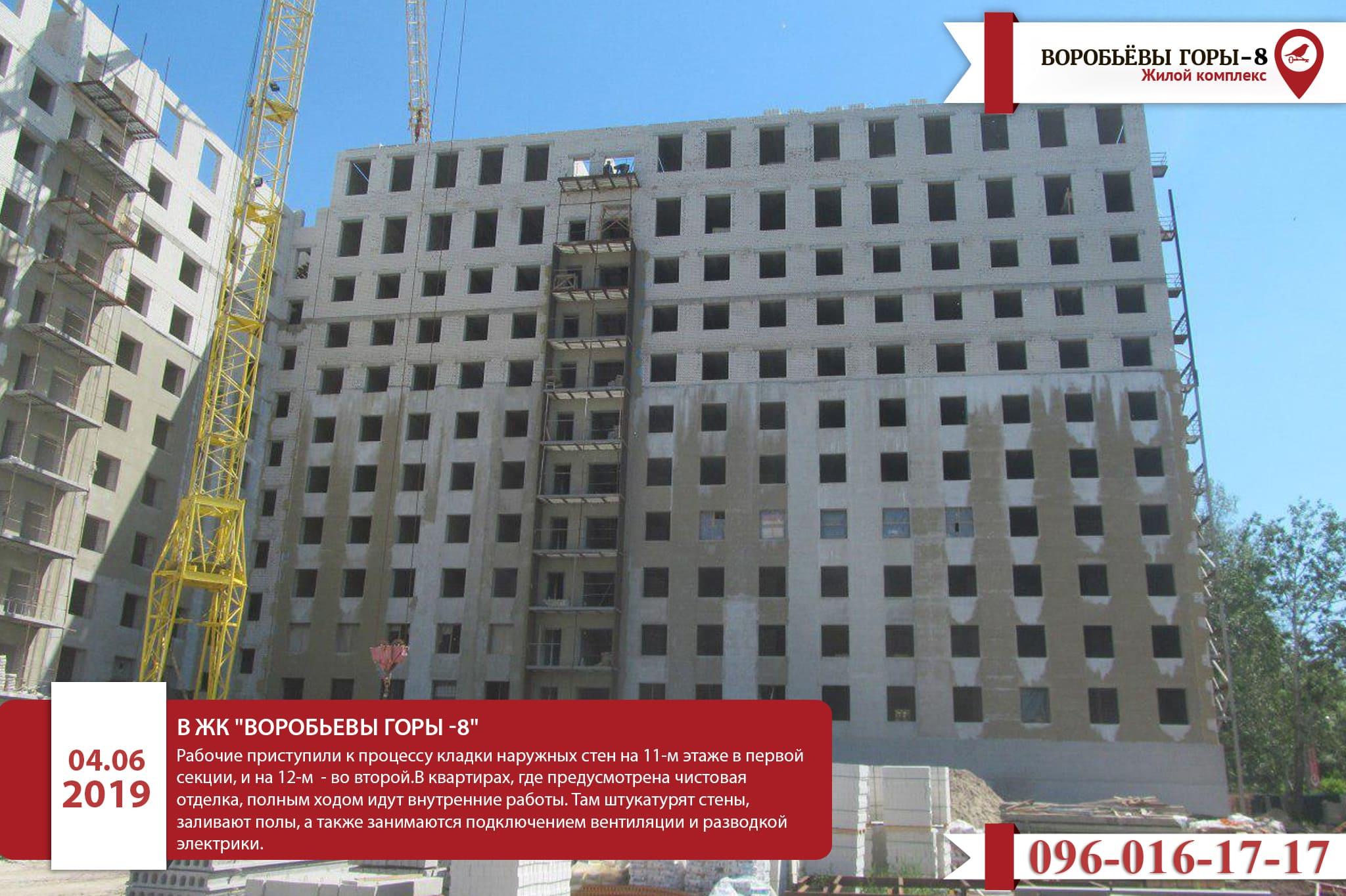 Актуальная информация о ЖК «Воробьевы горы-8»