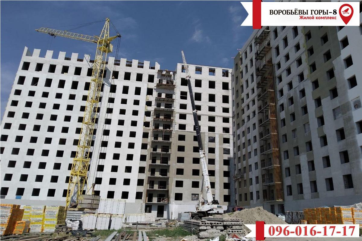 Поступила новая информация с места строительства восьмого жилого здания «Воробьевы Горы»