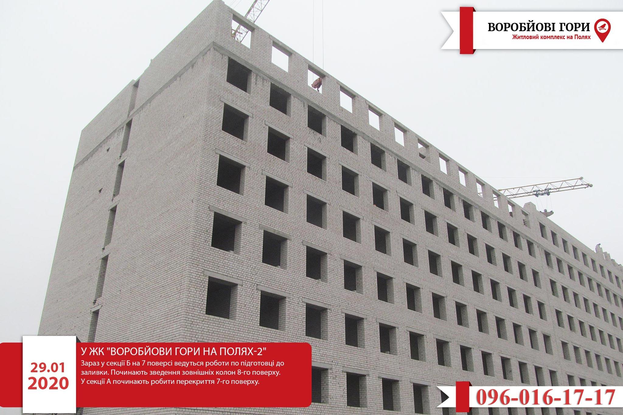 Хід будівництва ЖК «Воробйові гори на полях-2»