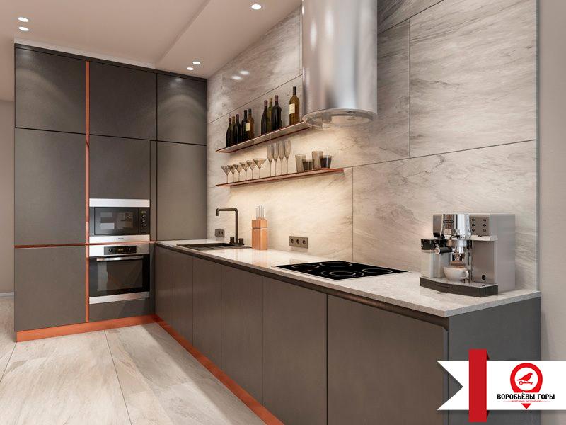 Сколько максимум места на кухне может занимать мебель?