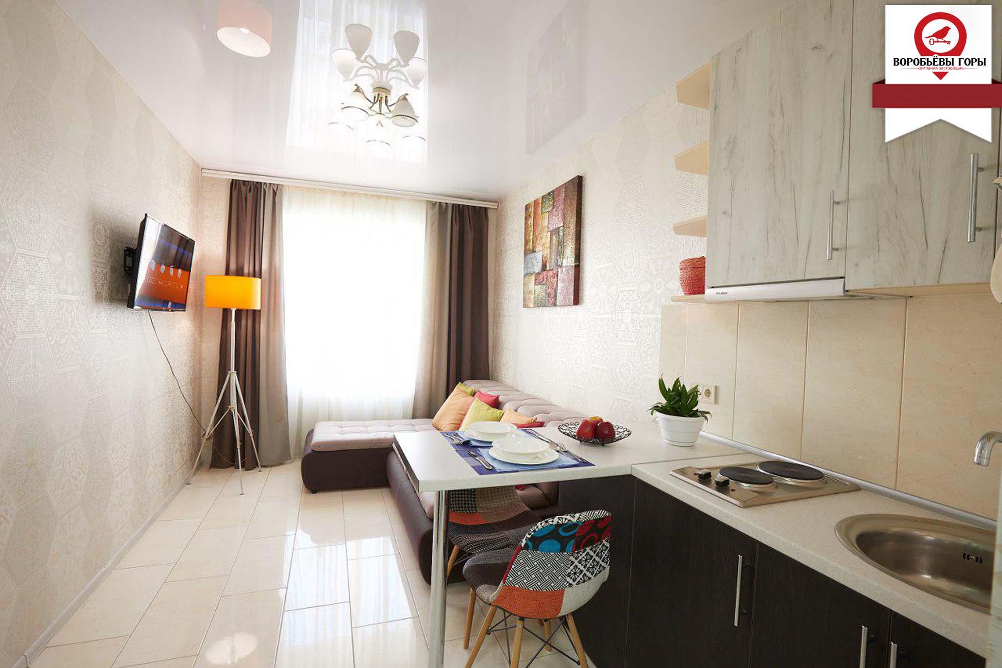 """Ремонт в квартире 19м² в ЖК """"Воробьевы горы"""""""