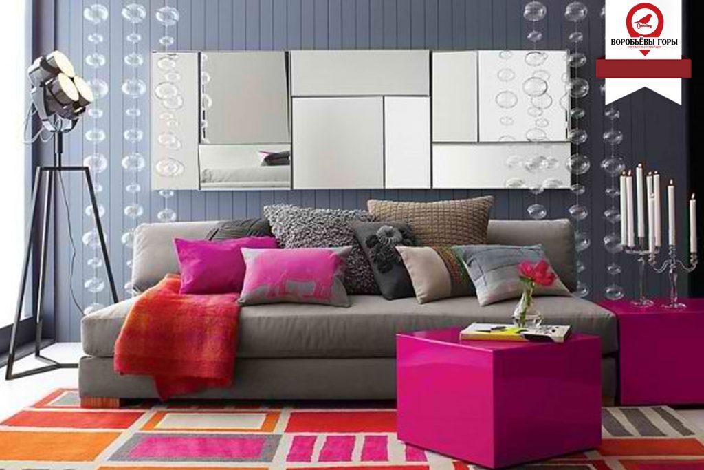 Сочетание цветов в дизайне интерьера.