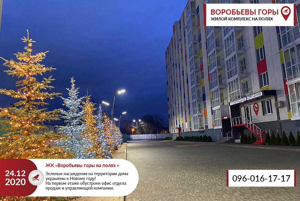 """ЖК """"Воробьевы Горы на Полях"""" уже украшен к Новому году"""