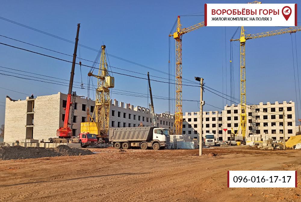 Кладка этажей в ЖК «Воробьевы Горы на Полях-3» продолжается