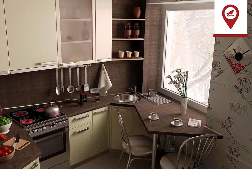 Обустройство маленькой кухни: компактный холодильник и другие способы экономии пространства